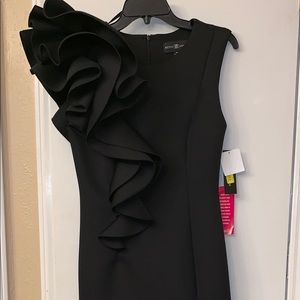 A Brand New (with tags) long, black gown.